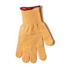"San Jamar® SG10-Y-M Yellow 11"" Medium Cut Resistant Glove"