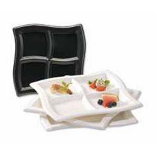 """EMI Yoshi® EMI-WCP10-BL 4 Compartment 9.75"""" Wave Plate - 120 / CS"""