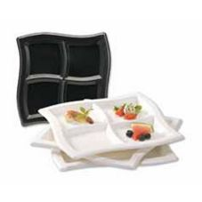 "EMI Yoshi® EMI-WCP10-CL 4 Compartment 9.75"" Wave Plate - 120 / CS"