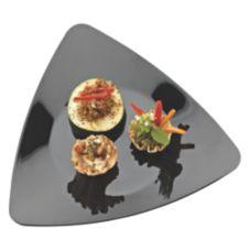 "EMI Yoshi® EMI-TRP6-BL Plastic 6"" Triangles Plate - 120 / CS"
