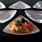 "EMI Yoshi® EMI-TRP9-WH Plastic 9"" Triangles Plate - 120 / CS"