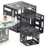"""Cal-Mil® 1607-7-13 Black 7"""" Square Cube Riser"""