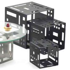 """Cal-Mil 1607-9-13 Black 9"""" Square Cube Riser"""