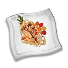 "EMI Yoshi® EMI-WP10-CL Plastic 9.75"" Waves Plate - 120 / CS"