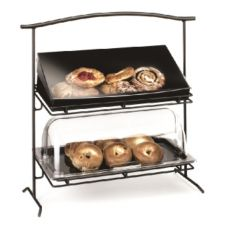 "Cal-Mil 1330-12-13 Black 26-1/4 x 12-1/2 x 27"" 2-Tier Iron Stand"