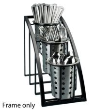 Cal-Mil® 1746-3-13 Mission Black Vertical 3-Tier Cylinder Display