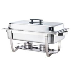 Browne Foodservice HL725A 9 Qt. Stainless Steel Economy Chafer