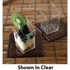 EMI Yoshi® EMI-610-BL Plastic 2.5 Oz. Diamond Cube Dish - 200 / CS