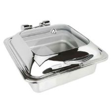 Eastern Tabletop 3904G Glass Top 6 Qt. Induction Chafer
