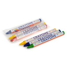 Hoffmaster 120802 Red, Green, & Blue Round Crayons - 1500 / CS