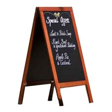 American Metalcraft SBSM135 Securit® Mahogany Sandwich Board Sign