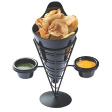 "Tablecraft ACR259 Vertigo Collection 9"" Appetizer Cone - 4 / PK"