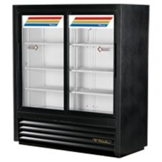True® GDM-41SL-54-LD BLACK EXTERIOR Two Convenience Store Cooler