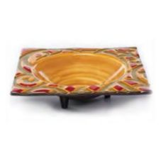 Elite Global Solutions V13133 Bas-Relief Scroll Square Bowl with Legs