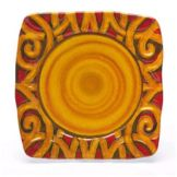 "Elite Global Solutions V15152 Bas-Relief Scroll 15"" Sq. Platter"