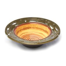 Elite Global Artist Series Round Small Bowl With Leaf Cutout Pattern