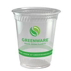 Fabri-Kal 9509208.04 Greenware 12 Oz Clear Compostable Cup - 1000 / CS