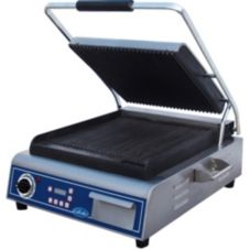 Globe Food GPG14D Bistro 14 In Single Panini Grill with Grooved Plates