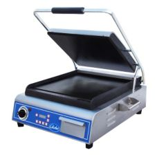 "Globe Food GSG14D Bistro 14"" Single Panini Grill w/ Smooth Plates"