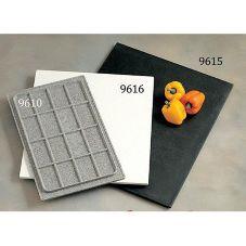"Bon Chef 9611BLACKGAL Galaxy 28-1/4 x 13-1/2"" Bonstone Tile Tray"