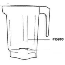 Vitamix® 15893 Clear 64 Oz. Container For XL® Blender