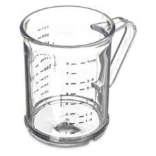 Carlisle® 431507 8 Oz. Polycarbonate Clear Dredge Measuring Cup