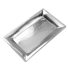 """American Metalcraft HMRT1322 Hammered S/S 22 x 13"""" Rect. Tray"""