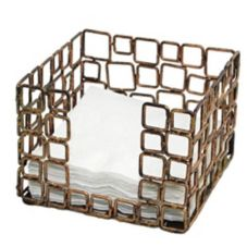 Front Of The House BHO039GOI21 Coppered Link Beverage Napkin Holder