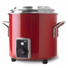 Vollrath® 7217755 7 Qt. Red Finish Stock Pot Kettle Rethermalizer