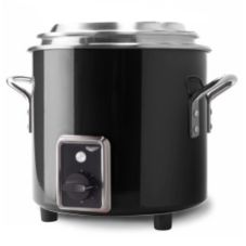Vollrath 7217760 7 Qt. Black Finish Stock Pot Kettle Rethermalizer