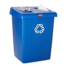 Rubbermaid® 1792339 2-Stream Glutton® Blue Recycling Station