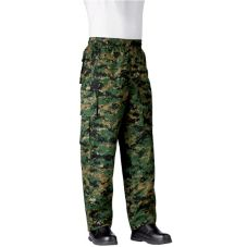 Chefwear® 3270-XS-54 XS Green Camo Performance Chef Pants