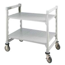"Cambro 36"" x 24"" Speckled Gray Camduction Cart for Charger"