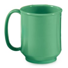 G.E.T. SN-104-FG Rainforest Green 8 Oz. Single Handle Mug - 24 / CS