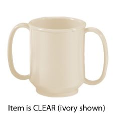 G.E.T. Enterprises Two Handle Clear 8 Oz. Adult Sippy Mug
