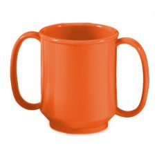 G.E.T. SN-103-RO Rio Orange 8 Oz. Two Handle Adult Sippy Mug - 24 / CS