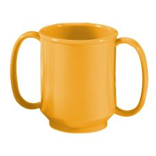 G.E.T. SN-103-TY Tropical Yellow 8 Oz. Two Handle Sippy Mug - 24 / CS