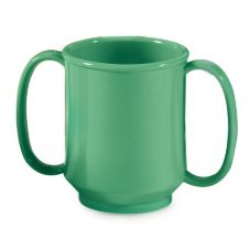 G.E.T. SN-103-FG Rainforest Green 8 Oz. Two Handle Sippy Mug - 24 / CS