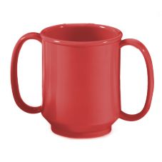 G.E.T. SN-103-RSP Red Sensation 8 Oz. Two Handle Sippy Mug - 24 / CS