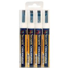American Metalcraft SMA510V4WT White Sm. Tip Rain Proof Chalk Markers