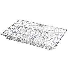 American Metalcraft BNBC20132 Large Chrome Rectangular Birdnest Basket