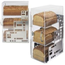 "Cal-Mil 1614-55 Squared S/S 20""H 3-Tier Bread Case"
