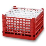 Vollrath 5275733 Signature 20-Compartment Full Size Red Glass Rack