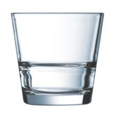 Cardinal H3858 Arcoroc Stack Up 7 Oz. Rocks Glass - 12 / CS