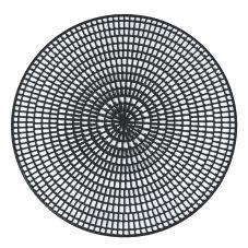 """Vollrath® 1620-06 14-1/2"""" Round Black Anti-Skid Mat - 12 / CS"""