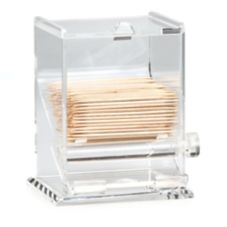 "TableCraft 228 4"" Acrylic Toothpick Dispenser"