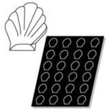 Demarle® FP 01067 Flexipan® 2.4 Oz. Shells Pan with 24 Molds