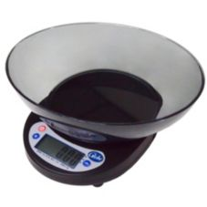 Globe 5 Lb. Digital Portion Control Scale with Ingredient Bowl