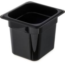 "Carlisle® Top Notch® Black 1/6 Size 6"" Deep Food Pan"