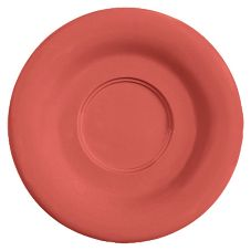 "G.E.T. SU-2-CR Diamond Harvest Cranberry 5.5"" Saucer - Dozen"